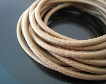 A2 - 1 Yard of 3mm Almond Round Stretch Elastic Drawcord Rope Cord