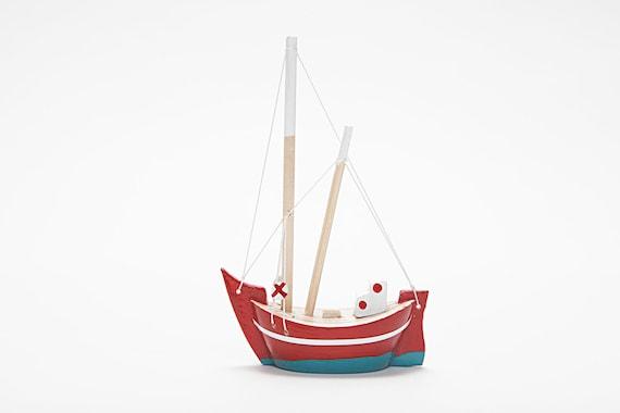 Wooden Boat - Fishing Boat - Trawler / Handmade - Hand Painted