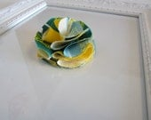 Oregon Ducks Fabric Flower Hair Clip - Green Yellow - U of O - Photo Prop Toddlers Girls Women