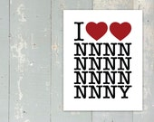 Doctor Who - New Series - I Heart Heart NNNNNNNNNNNNNNNY - Fine Art Giclée Print - 11inx14in