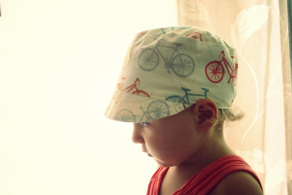 conductor Hat - vintage inspired reversible cap (6-18 mos)