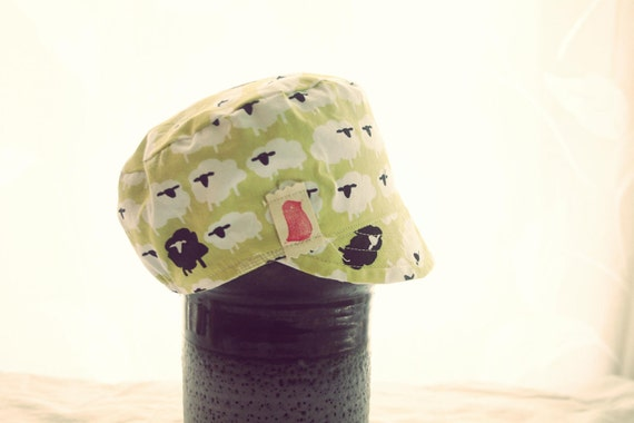 conductor Hat - vintage inspired reversible cap (1-6yrs)