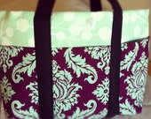 Soft Six Pocket Tote Bag, Custom Made to Order