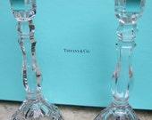 TIFFANY & CO Crystal Candle Sticks in Tiffany Box