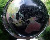 VINTAGE WORLD GLOBE with Chrome Base