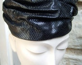 Reserved Sale Pending  for Isthatail SAKS FIFTH AVENUE Vintage Faux Reptile Turban Hat