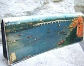 Reserved for Swan Sale Pending Vintage Clutch Bag with Canal Scene Cover