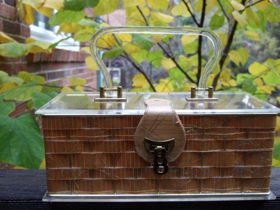 1950's Woven Box Bag by Dorset Rex