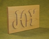 JOY ... Set of 2 Wall Hangings Made With Maple, Finished With Natural Danish Oil