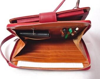 Customerized Leather iPad portfolio or genuine ipad leather handbag as your present for your iPad pro