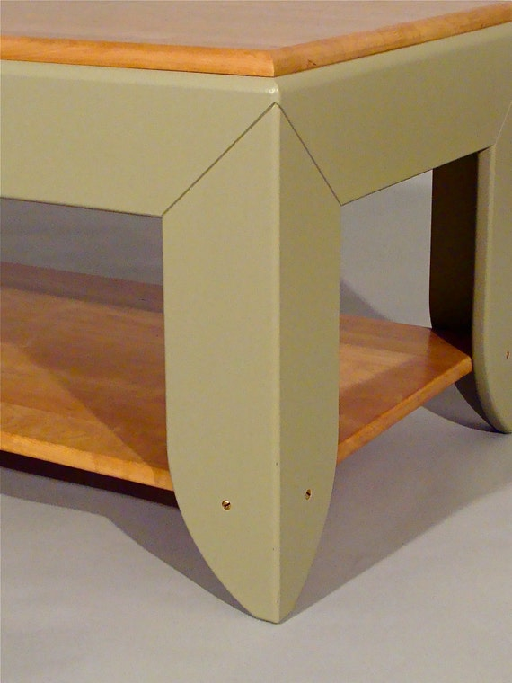 All Table From Top To Bottom:  Solid Cherry and Painted Poplar Coffee Table