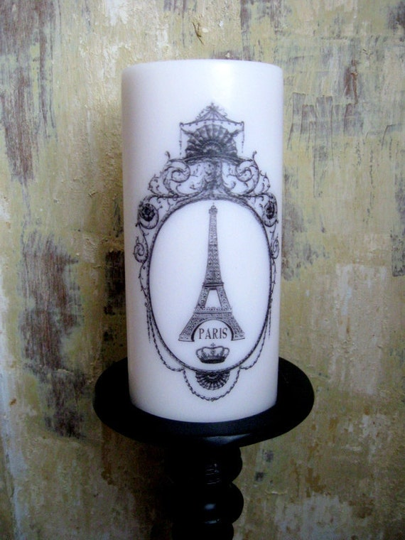 French Country Candle, Paris, Eiffel Tower, French Country Home