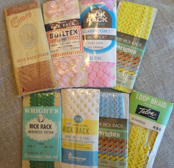 Vintage Rick Rack and Trim Lot - Eight Packages