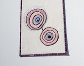 Circles- Fabric postcard