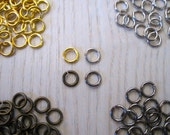 Assorted 6mm Jump Rings Gold, Silver, Brass Ox and Gunmetal 6mm Unsoldered Jumprings 1mm Thick assorted Jumprings Lot of 400 by BySupply