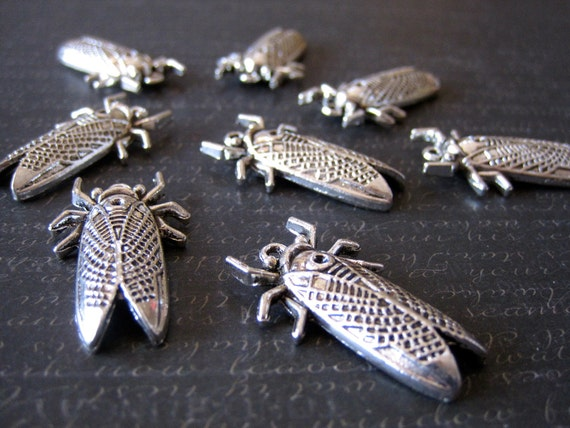 items similar to jewelry ring steunk cicada bug silver