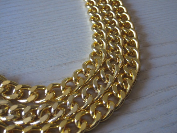 Chunky Curb Chain Chunky Gold Flat Curb Chain Large Fashion Chain Heavy Gauge Gold Chain Gold Chain 13mm by 10mm 1 Foot Length by BySupply
