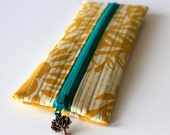 Pencil / Makeup Pouch with Tree Charm