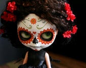 Custom listing for Julia (Julbers6) -- Set of 9 Calavera  postcards