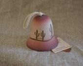 Vintage Southwestern Bell - TESA - Handpainted - Desert - Catcus - Mini Bell - Collectible