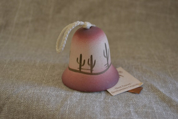 Vintage Southwestern Bell - TESA - Handpainted - Desert - Catcus - Mini Bell - Collectible