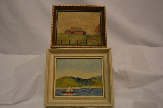 2 Vintage Landscape Oil Paintings