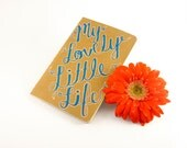 Pen and Ink decorated Mini Journal 'My Lovely Little Life' - Moleskin Notebook