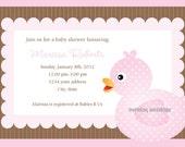 Ducky Duck Duck Baby Shower Invite -Digital File