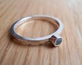 Silver Stacking Ring & Sky Blue Topaz Gemstone