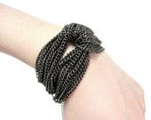 SALE 20% - Bold Chain Knot Bracelet - VALENTINE'S DAY
