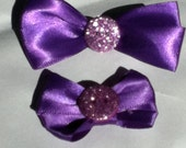 Purple bow set for your little one and her bear
