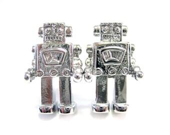 Metal Robot Cufflinks