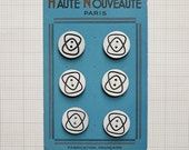 Vintage French buttons - x6