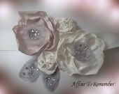 RESERVED for Karen Wrist corsage and two floral pins