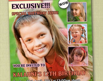 Magazine Cover Birthday Invitations - You Print