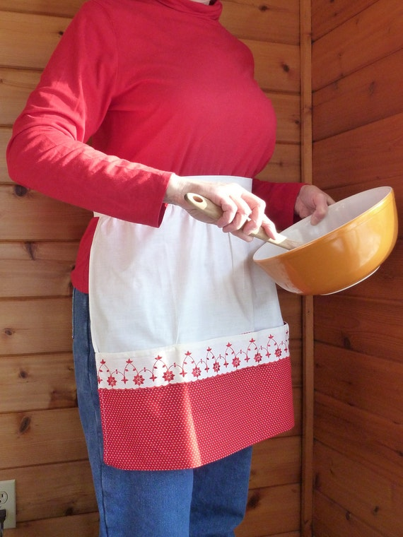 Vintage Apron - Red and White 50s Polka Dot Chic