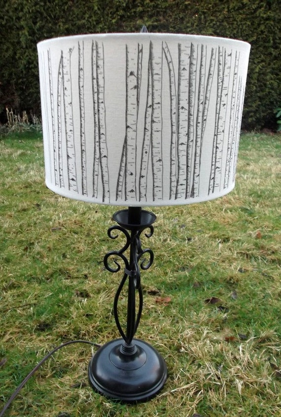 Birch Tree Lampshade