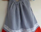 Girls pillowcase dress using vintage fabrics and lace.  UK seller