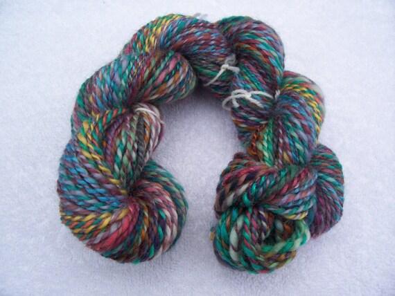 Handspun Yarn Multi Colour Yarn Aprox 103 yards
