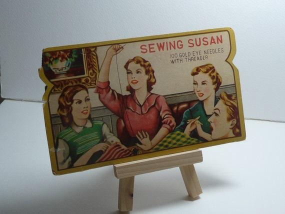 5 Vintage Sewing Needle Card Assortment