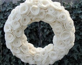 Felt Flower Wreath (16 inch)