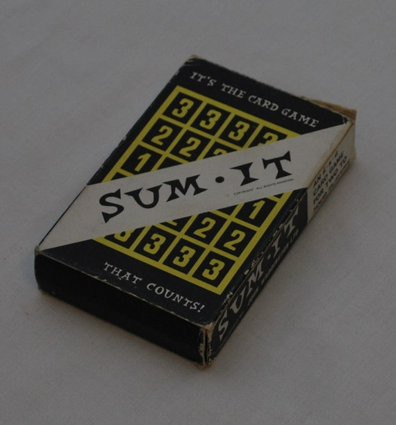 Sum It card game number flash cards decimal price labels math