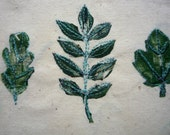 Leaf embroidery - oak, ash, sycamore, horse chestnut, beech