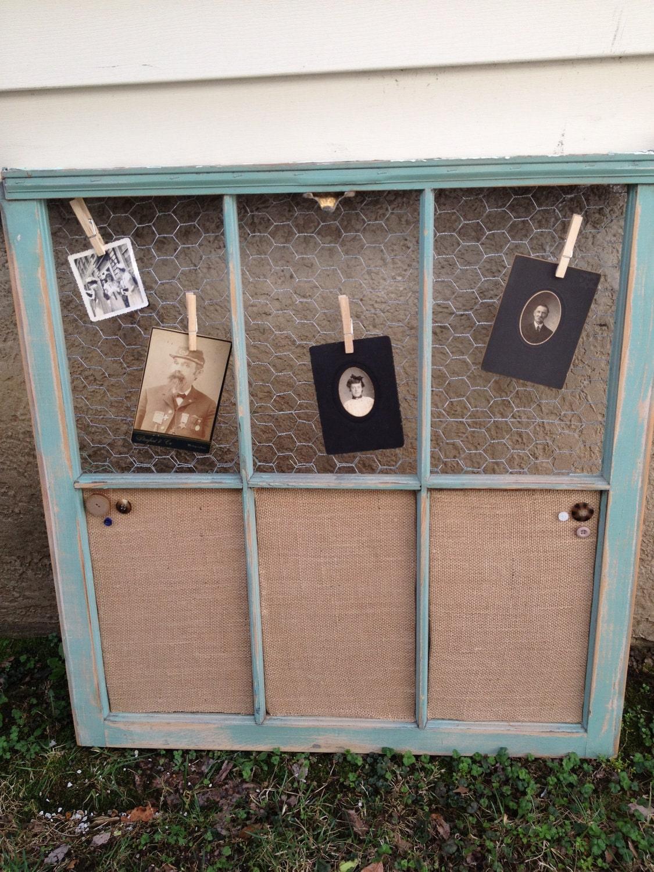 Old Window Custom Vintage Window Jade Distressed Wood
