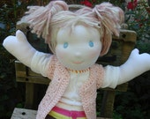 "Susi -seventeen inches- handmade of all natural products, 17"" Waldorf Doll"