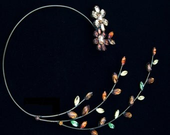 Free  shipping  necklace with  Swarovski crystals