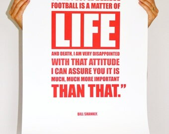 LETTERPRESS SALE: A2 Shankly Quote Limited Edition Print