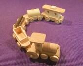 Train wooden Train set 5 pc  handmade toy natural