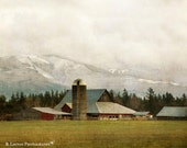 Washington Landscape Photography - Barn Photograph - Mount Baker - Farm - Barn Photo - Fine Art Photography Print - Rustic Home Decor