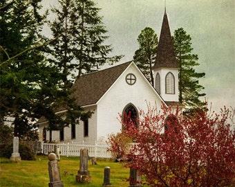 Washington Landscape Photography - Church Photograph - San Juan Islands - Landscape - Fine Art Photography Print - Rustic Home Decor